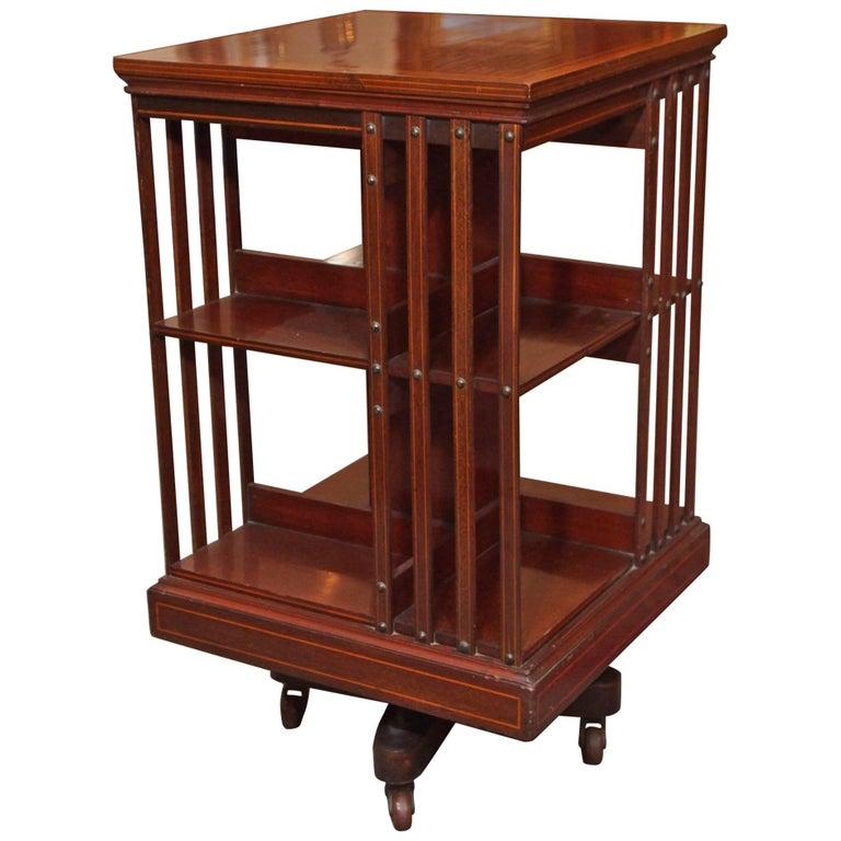 Antique English Mahogany Revolving Bookstand