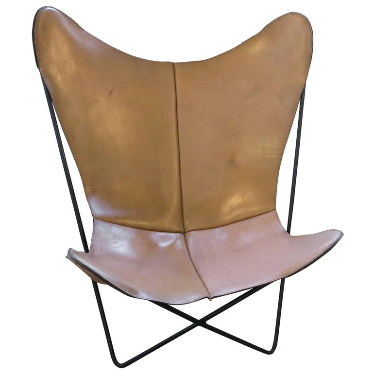 vintage knoll bkf butterfly chair for sale at 1stdibs. Black Bedroom Furniture Sets. Home Design Ideas