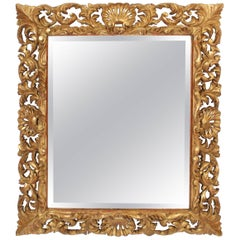 Antique Baroque Style Gilt Wood Mirror