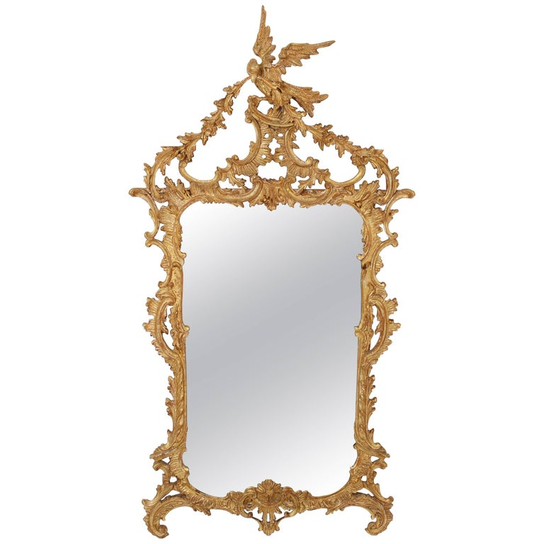 George II Style Giltwood Mirror