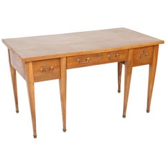 Directoire Walnut Leather Top Desk