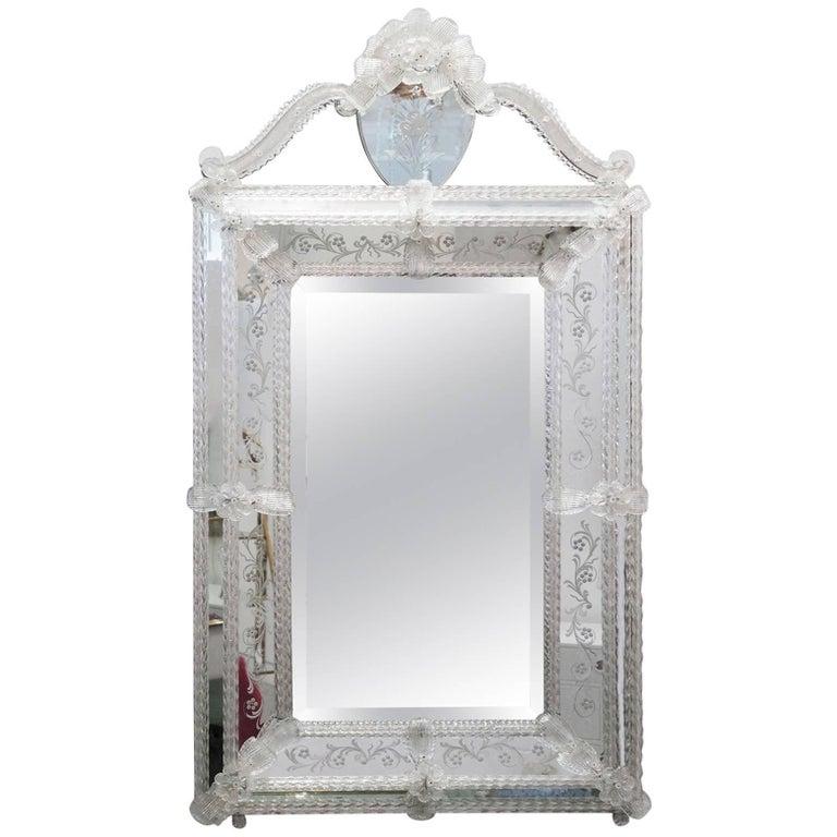 Vintage Italian Venetian Mirror For Sale