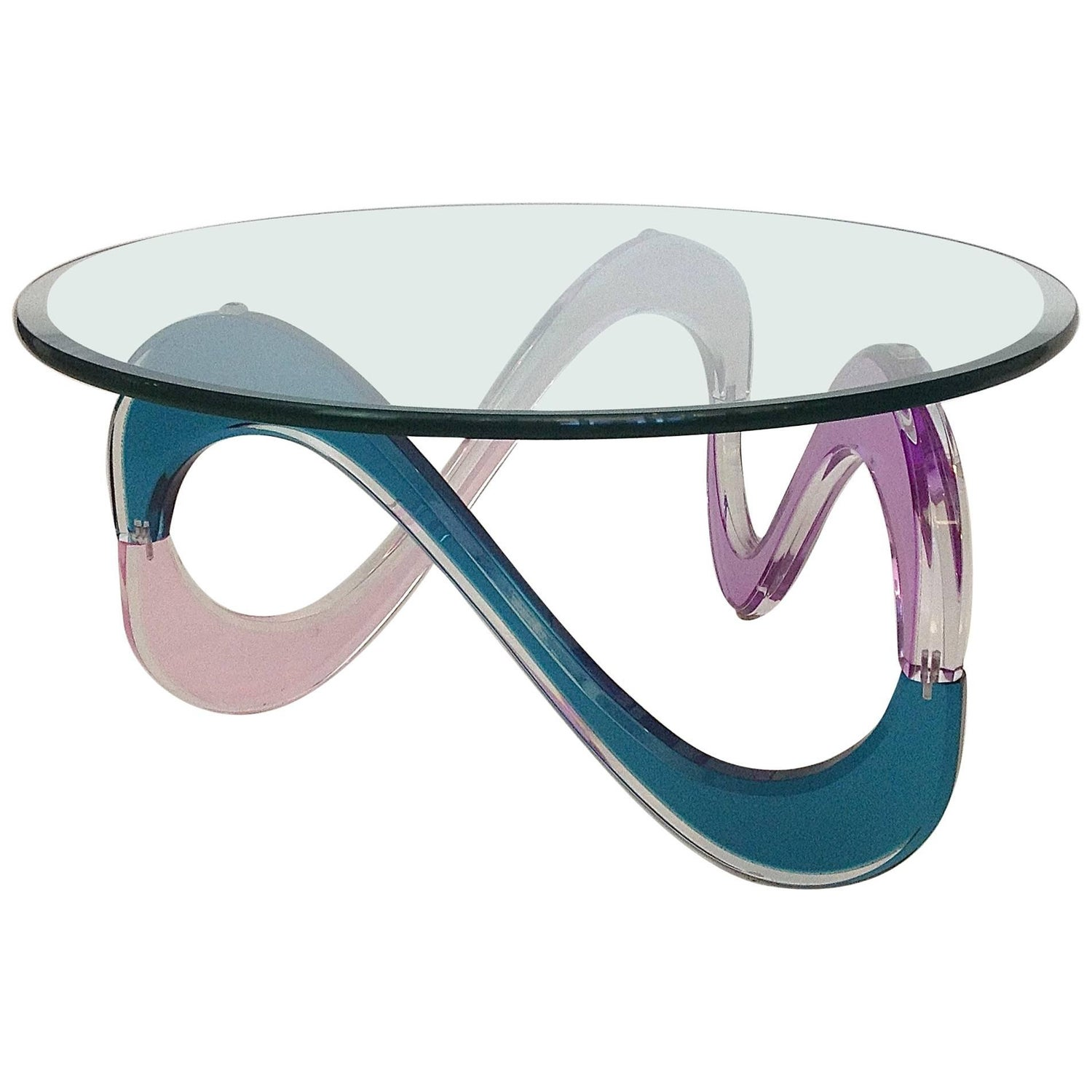 Shlomi Haziza Infinty Lucite Coffee Table For Sale at 1stdibs
