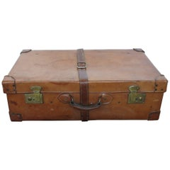 Antique Leather Suitcase Trunk