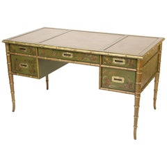 English Regency Style Chinoiserie Decorated Desk