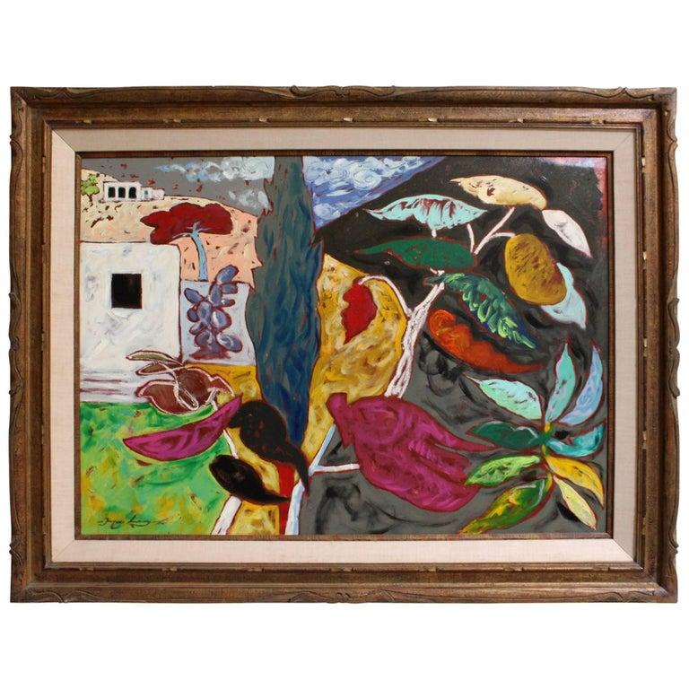 "Bright Surreal Southwestern Landscape Titled ""Joy"" by Artist Jacques Lamy"