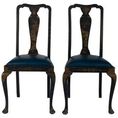 Pair of 19th Century English Chinoiserie Painted Chairs
