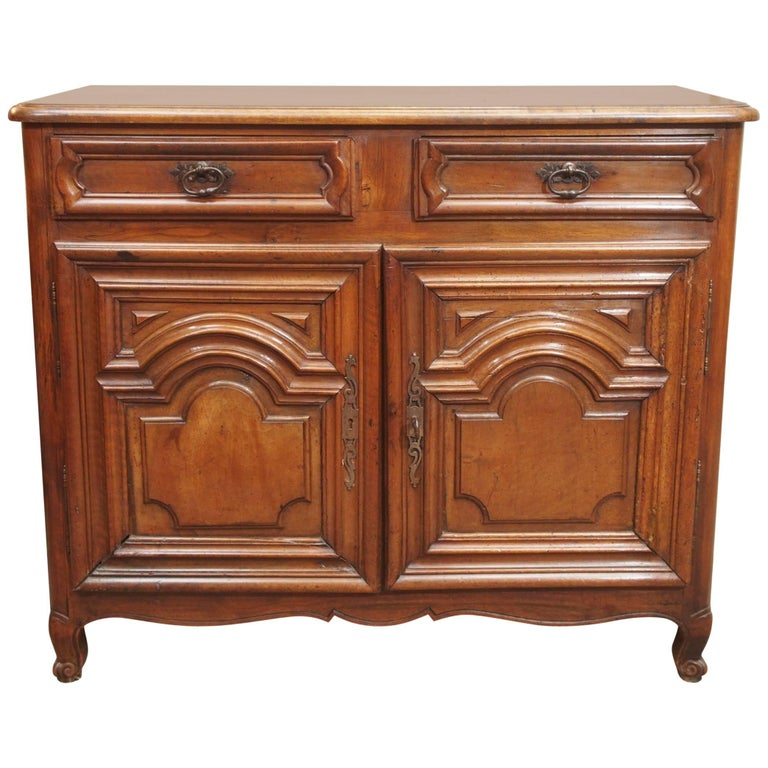Antique French Small Walnut Cabinet