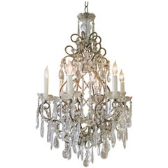 Antique Italian Macaroni Bead Chandelier