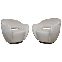 "Vladimir Kagan Pair of ""Wysiwyg Chairs"" for Directional"
