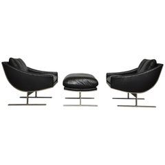 "Kipp Stewart ""Arc Lounge Chairs"" for Directional"
