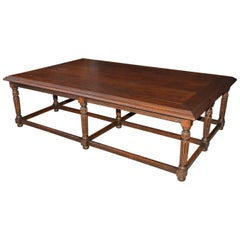Grand English Tudor Jacobean Style Coffee Table