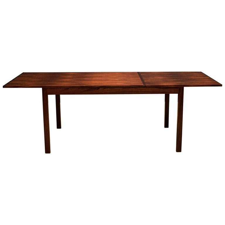 Midcentury Rosewood Dining Table with Extended Leaf