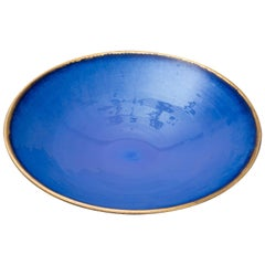 Blue and Gilded Red Stoneware Bowl 'Constellation' CB/01 2017 by Karen Swami