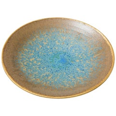 Turquoise and Gold Red Stoneware Bowl 'Constellation' CB/02, 2017 by Karen Swami