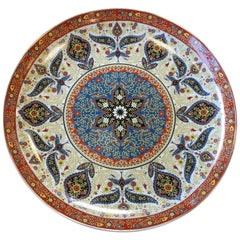 Chinese Porcelain Plate Five Stars