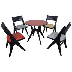 Dining Set With Four Penguin Chairs By Carl Sasse For Casala Germany 1950s