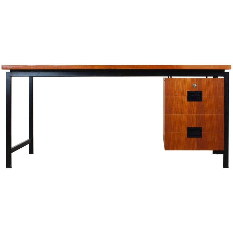 EU02 Japanese Series Free Standing Desk by Cees Braakman for Pastoe Black Teak