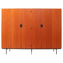 KU16 Japanese Series Wardrobe or Cabinet by Cees Braakman for Pastoe Teak Black