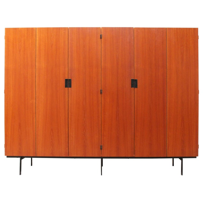KU16 Japanese Series Wardrobe or Cabinet by Cees Braakman for Pastoe Teak Black For Sale