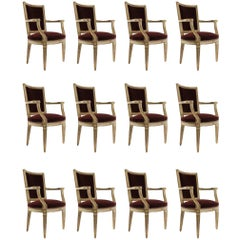Italian Fine Quality Set of 12 Armchairs in the Style of 18th Century