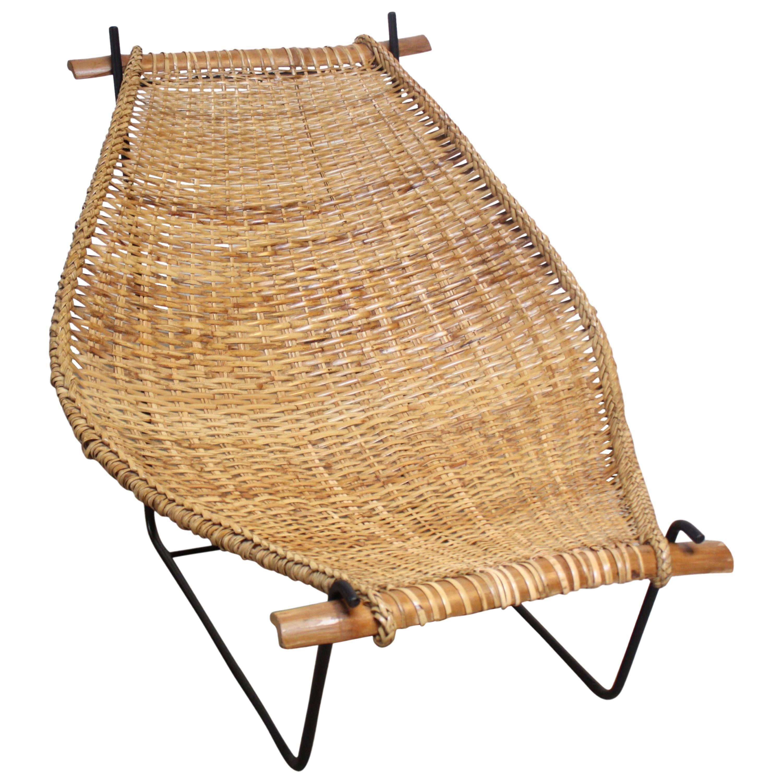 John Risley U0027Duyanu0027 Rattan And Iron Sling Chair