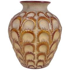 René Lalique Yellow Amber Vase Laiterons