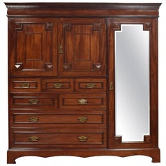 Cuban Mahogany Combination Wardrobe