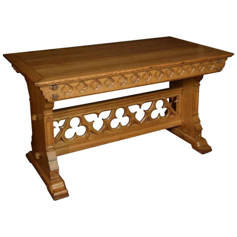Carved Oak Gothic Coffee Table Eug¨ne Emmanuel Viollet le Duc