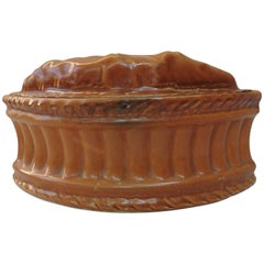 French Porcelain Leaf Pate Tureen