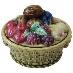 Majolica Fruits Basket, circa 1910