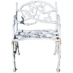 Victorian Cast Iron Serpent and Twig Pattern Garden Seat or Bench, circa 1860