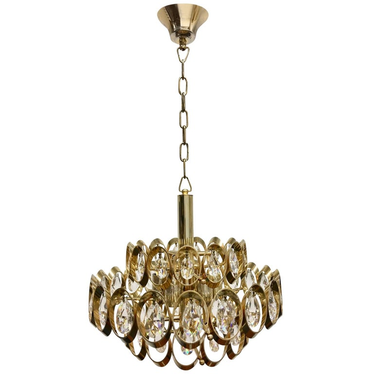 Crystal Chandelier by Palwa Leuchten, Germany, Midcentury