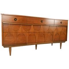 Mid-Century Modern Walnut Nine-Drawer Dresser