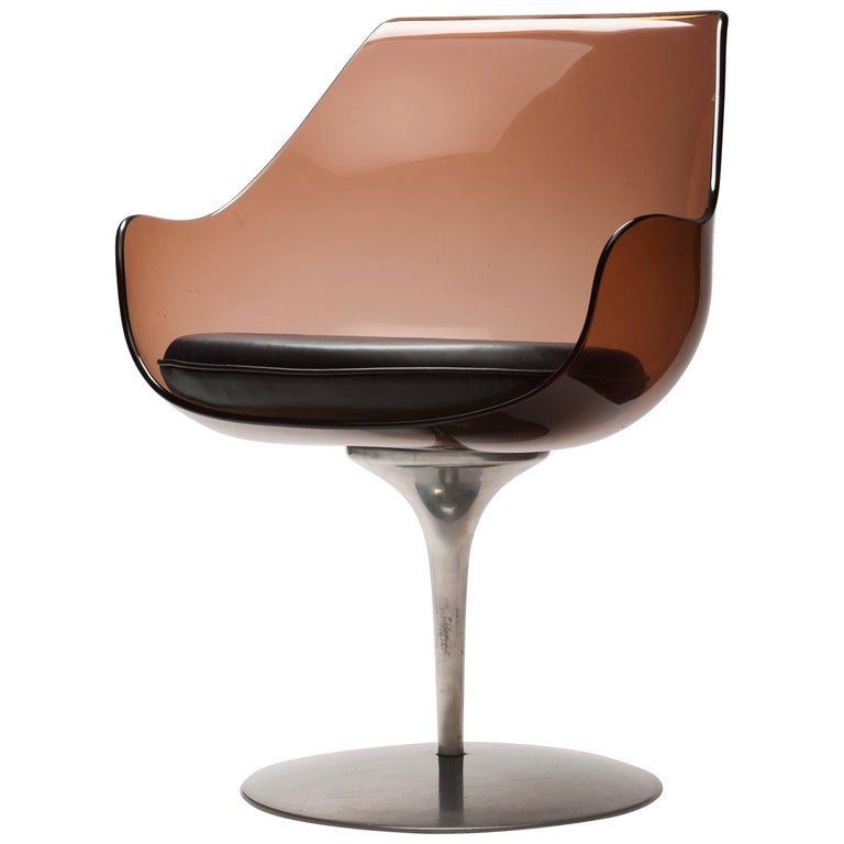 Lucite 'Champagne' Chair by Estelle & Erwin Laverne For Sale