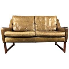 Rudolf B. Glatzel Two-Seat Leather Sofa for Kill International, 1960s, Germany