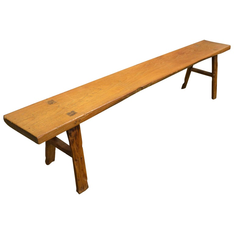 Andrianna Shamaris Antique Teak Wood Wabi-Sabi Bench For