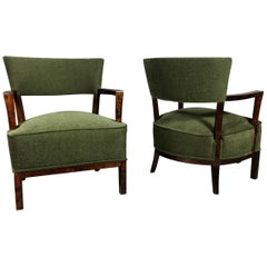 Pair of Early 1940s Danish Armchairs