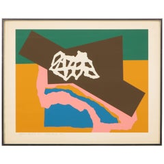 Silkscreen Abstract Geometric by Harold Krisel, Signed and Dated 1975