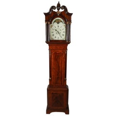 18th Century English 8-Day Rolling Longcase Clock by J. Wainwright of Nottingham