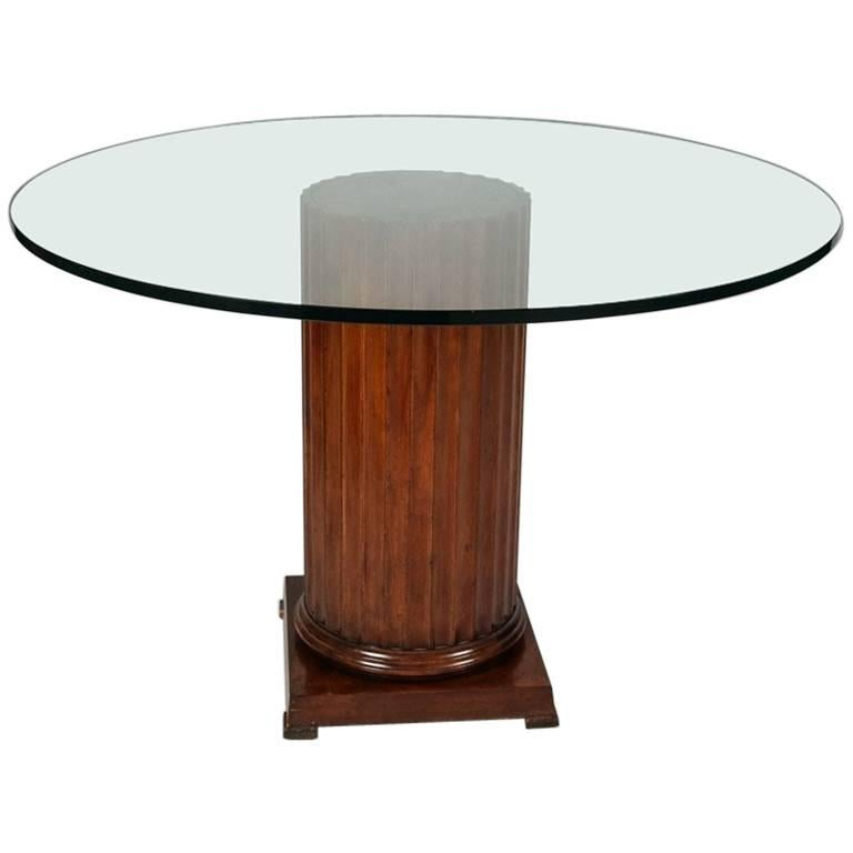 Classical Mahogany Corinthian Column Glass Top Dining  : 8602353master from www.1stdibs.com size 768 x 768 jpeg 23kB