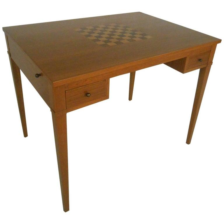 Vintage Danish Teak Flip Top Game Table Or Desk At 1stdibs
