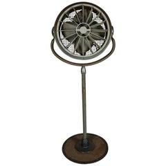 Vintage Industrial Westinghouse Commercial Swivel Floor Fan, 20th Century