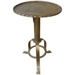 Mid-Century Modern Style Gilt Iron Side Table
