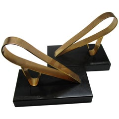 Art Deco Style Aviation Zeppelin Bookends