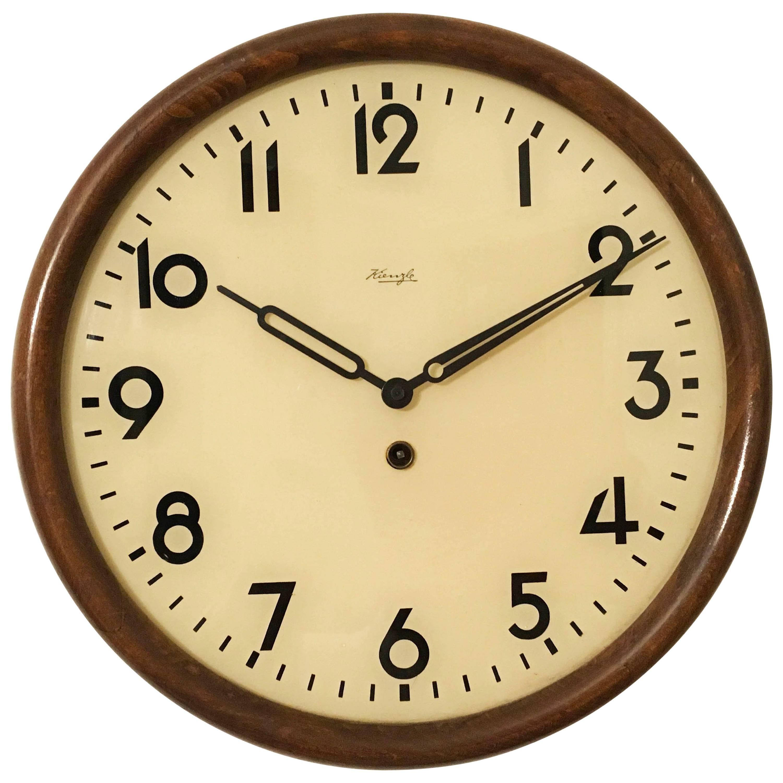 Big Kienzle Bauhaus Wall Clock from the 1930s at 1stdibs