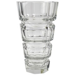 Crystal Vase Designed by Josef Hoffman Attributed to Moser
