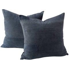 Vintage Black Futon Cover Cushions