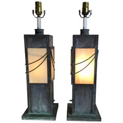 Pair of Copper Table Lamps