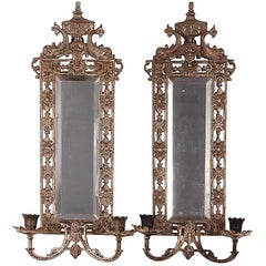 Bradley & Hubbard Brass Wall Candle Sconces in Neoclassical Revival Style